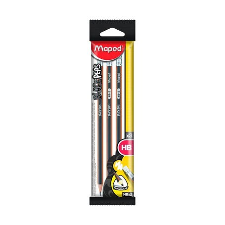 Чернографитный карандаш НВ, 3 шт.
