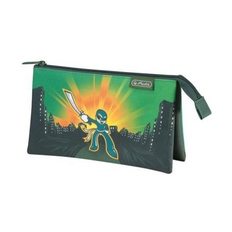 Пенал-косметичка плоский Compact, зеленый