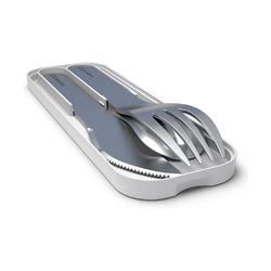 Набор из 3 столовых приборов в футляре Monbento MB Pocket, светло-серый