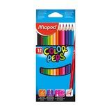 Карандаши цветные трёхгранные Maped COLOR'PEPS,12шт