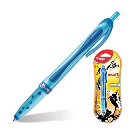 Ручка шариковая автом. Maped FREEWRITER , синяя, блистер