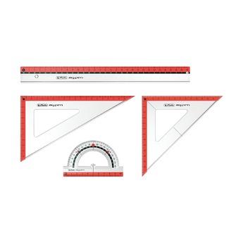 Набор геометрический my.pen, 4предмета, асс. 3 цв.