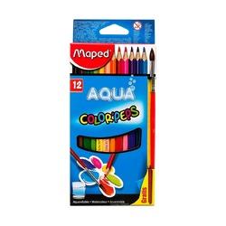 Карандаши цветные акварельные Maped COLOR'PEPS, 12шт+кисть