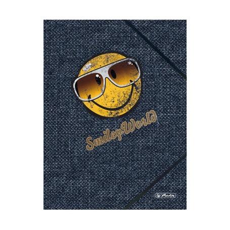 Папка с резинками Smiley Jeans