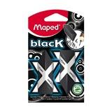 Ластик Maped BLACK PYRAMIDE, черный, 2 шт, блистер