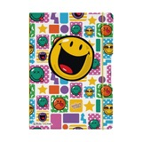 Блокнот Smiley Happy, А4, 2 блока: кл+лин по 40л., 80g/m²