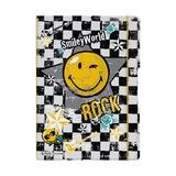 Блокнот Smiley Rock, А4, 2 блока:кл+лин по 40л., 80g/m²