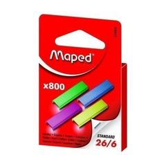 Скобы Maped 26/6 цветные